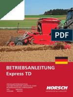 Horsch Express TD Betriebsanleitung