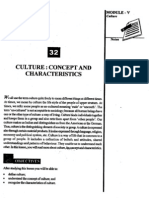 OPTIONAL MODULE-2 L-32 CULTURE CONCEOT AND CHARACTERISTICS[1]