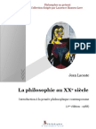 Jean Lacoste- La philosophie au 20ème siècle