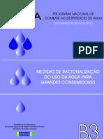 B3 - MEDIDAS DE RACIONALIZAÇÃO DO USO DA ÁGUA PARA GRANDES CONSUMIDORES