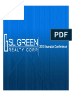 SLG SL Green Realty 2010 Corporate Investor Presentation Slides Deck PPT PDF
