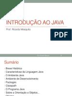 TEMA 1 - Parte 1 - Introdução Ao Java - SLIDES