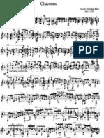 Bach Chaconne Guitar - A.Segovia Edition