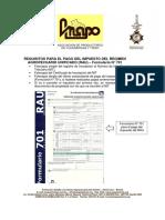Requisitos Tramite Form-701 (Nuevo)