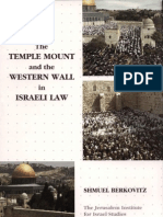 The Temple Mount and the Western Wall in Israeli Law