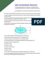 Lista de física - Leis de Kepler