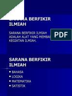 SARANA BERFIKIR ILMIAH