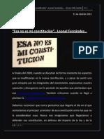 """""""Esa no es mi constitución""""...Leonel Fernández"""