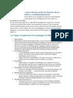 1.1 al 1.7 temario gral nivel 1 ¿Pedagogía como ciencia social en funcion de su carácter científico y multidisciplinarios
