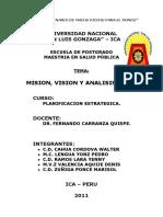 Mision, Vision y FODA