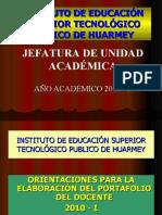 Orientaciones Port afolio 2010-i Jua