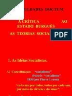 Crítica Ao Estado Burguês - Teorias Socialistas