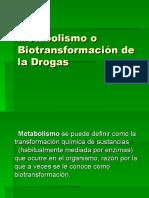 Metabolismo o Biotransformation de drogas