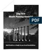 Make Your Family Wealthy - A Long Term Wealth Planning Checklist