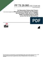 3GPP TS 29.060 GPRS and GTP