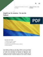 Impôt Sur Le Revenu _ Le Cas Du Gabon