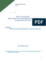23 TIC IPS Repere Metodologice Cls 9