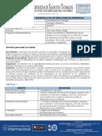 Ruta de aprendizaje y evaluación - Teología y Bioética 20201