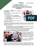 3RO Y 4TO - SOCIALES - SEMANA 24 -  CONSUMIDORES RESPONSABLES FRENTE A LA RECESIÓN ECONÓMICA