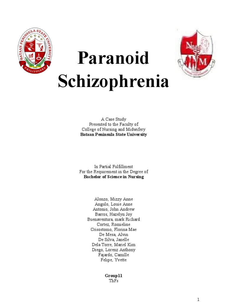 nursing case study for paranoid schizophrenia Nursing essays - paranoid schizophrenianursing essays - paranoid schizophrenia - analyse the care given the patient in your case study from biological, nursingreference this .