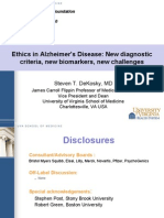 Ethical Issues in Alzheimer's Disease (Steven DeKosky, M.D.)