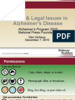Ethical Issues in Alzheimer's Disease (Daniel Vorhaus)