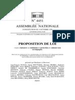Proposition de loi visant à instaurer un continuum de protection des mineurs non accompagnés n° 4451