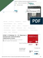 CCNA 1 v7 Modules 14 - 15 _ Réponses à l'examen des communications des applications réseau
