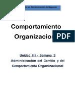 Administración del Cambio y del Comportamiento Organizacional