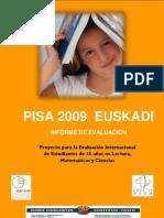 Pisa2009 Euskadi 1informe