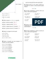 Listão sobre equaçoes