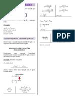 Resumo equaçoes biquadradas