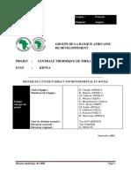 Thika ESIA ESIA Summary French Version 26-9-11