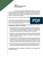 Escrit del jutge Pablo Llarena