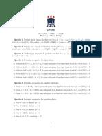 Geometria Analtica Lista 5