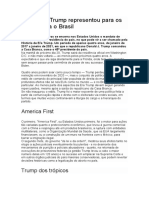 O que era Trump representou para os EUA e para o Brasil