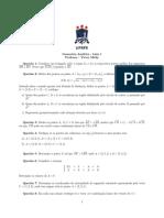 Geometria Analtica Lista 1