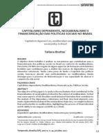 2017 -Tatiana Brettas- Capitalismo dependente e financeirizacao politicas sociais