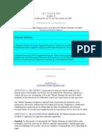 Ley 1164 de 2007 - Talento humano en salud