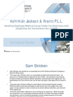 Handling Employee Medical Issues Under the ADAAA (KJK Breakfast Briefing