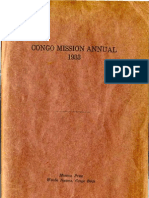 1933 Journal of Central Congo Conference