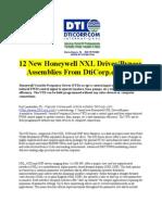 12 New Honeywell NXL DrivesBypass Assemblies From DtiCorp.com