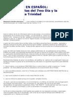 Los Adventistas del 7mo Dia y la Doctrina de la Trinidad