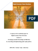 Gender and the Digital Economy - Developing Australia's Knowledge and Skills Base