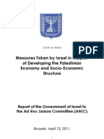 Economic Development, Israeli Support - ReportAHLC-April2011 (1)