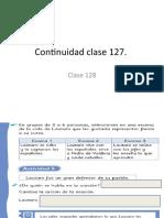 Continuidad clase 127.- clase 128