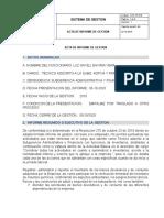 Acta de Informe Gestion