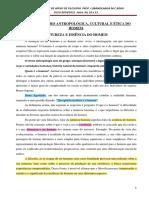 TEMA 2 DIMENSÃO ANTROPOLÓGICA, CULTURAL E ÉTICA DO HOMEM