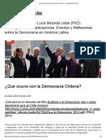 7. - Recursos 1. ¿Qué ocurre con la Democracia Chilena