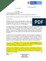 Requerimiento de Supernotariado a excurador No.1 de Barranquilla